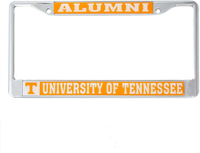 University of Tennessee UT Volunteers NCAA Metal License Plate Frame For Front Back of Car Officially Licensed (Alumni)