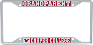 Casper College Wyoming Thunderbirds T-Bird NCAA Metal License Plate Frame For Front Back of Car Officially Licensed (Grandparent)