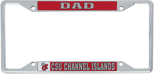 California Cal State University Channel Islands CSUCI Dolphins NCAA Metal License Plate Frame For Front Back of Car Officially Licensed (Dad)