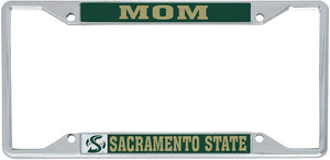 California Cal State University Sacramento Hornets NCAA Metal License Plate Frame For Front Back of Car Officially Licensed (Mom)