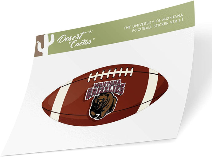 The University of Montana Grizzlies Lady Griz NCAA Vinyl Decal Laptop Water Bottle Car Scrapbook (Football Logo Sticker)