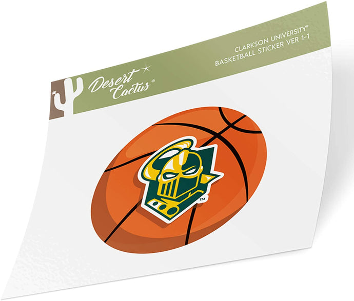 Clarkson University Golden Knights NCAA Vinyl Decal Laptop Water Bottle Car Scrapbook (Basketball Logo Sticker)