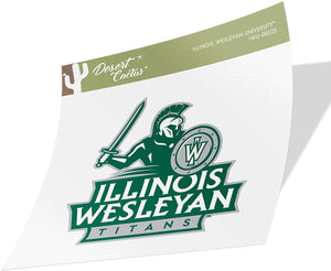 Illinois Wesleyan University IWU Titans NCAA Vinyl Decal Laptop Water Bottle Car Scrapbook (Sticker - 00025)