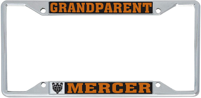 Mercer University Bears NCAA Metal License Plate Frame For Front Back of Car Officially Licensed (Grandparent)