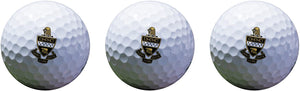 Kappa Alpha Theta Color Printed Unique Golf Balls (Set of 3) Licensed Product (Crest Golf Balls)