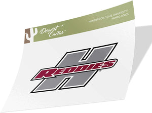Henderson State University HSU Reddies NCAA Vinyl Decal Laptop Water Bottle Car Scrapbook (Sticker - 00005)