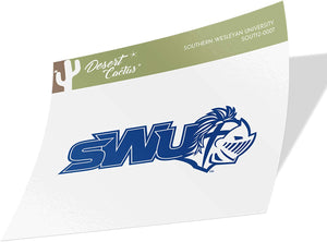 Southern Wesleyan University Warriors NCAA Vinyl Decal Laptop Water Bottle Car Scrapbook (Sticker - 0007)