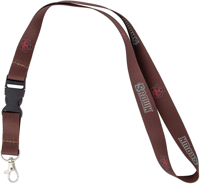 Brown University Bears NCAA Car Keys ID Badge Holder Lanyard Keychain Detachable Breakaway Snap Buckle