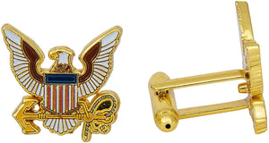 United States Navy Cufflinks Formal Wear US Navy (Cufflinks - Eagle)