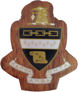 Kappa Alpha Theta Sorority Wood Wooden Crest Paddle Mascot Board (1.5 Inch Tall Single Raised)
