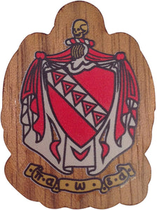 Tau Kappa Epsilon Wood Crest Made of Wood for Paddle Mascot Board TKE (1.5 Inch Tall Single Raised)