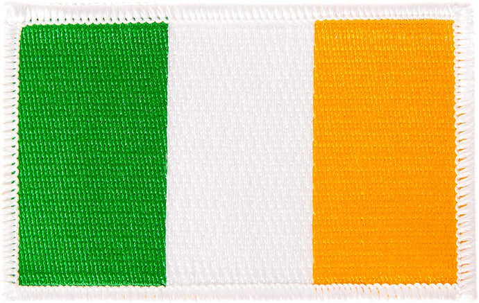 Ireland Flag Patch Single 3.5Wx2.25H Iron On Sew Embroidered Tactical Morale Back Pack Hat Bags (Single Patch)
