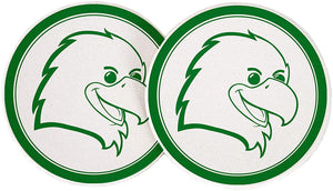 University of North Texas UNT Mean Green NCAA Absorbent Sandstone Car Cup Coaster (Set of 2) Licensed Product (Design 3) UNT