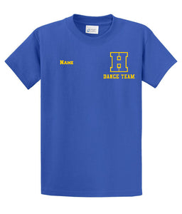 Hampton H With Name - PC61T/PC55T  Tall Royal Blue Tee With Name