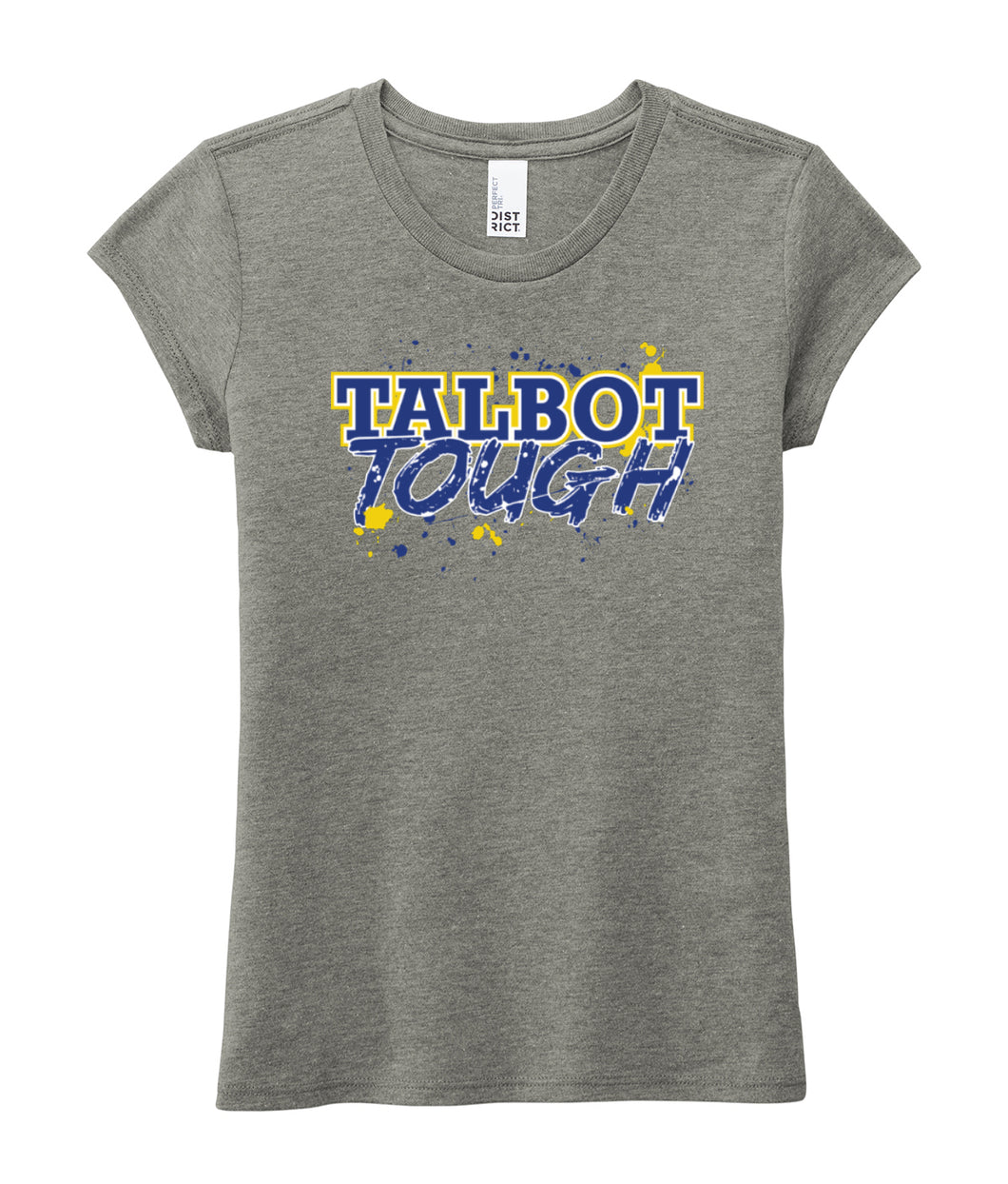 Hampton Central Talbot Tough - DT130YG Girl's Grey Frost Tri Blend Tee