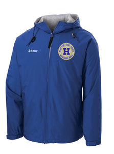 Hampton Embroidered Design With Name - JP56 Royal Blue Team Jacket