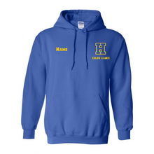 Load image into Gallery viewer, Hampton H With Name - 18500B Royal Blue Youth Pullover Hoodie