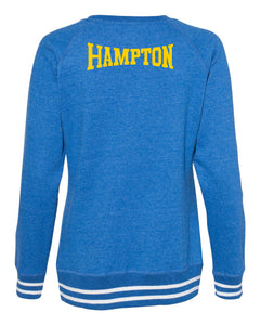 Hampton Central - 8652 Ladie's Royal Blue Crewneck