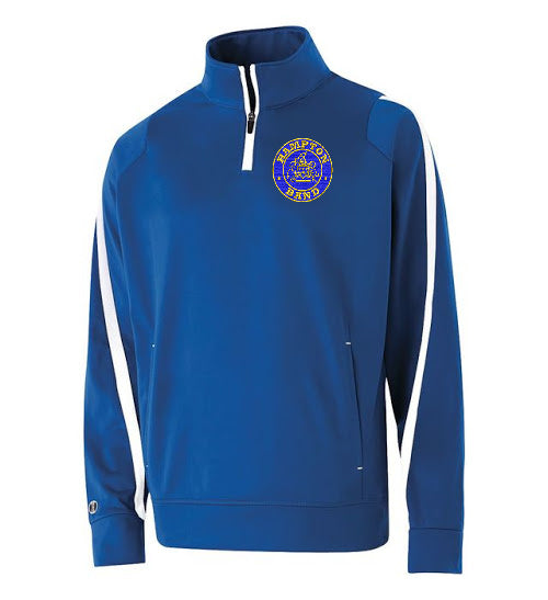 Hampton Embroidered Design  - 229292 Royal Blue Determination Youth 1/4 Zip