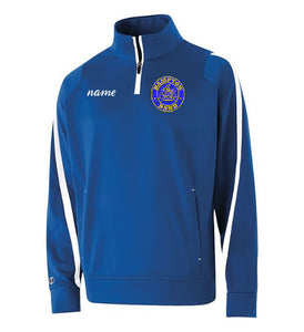 Hampton Embroidered Design With Name - 229292 Royal Blue Determination Youth 1/4 Zip