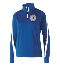 Load image into Gallery viewer, Hampton Embroidered Design - 229392 Royal Blue / White Determination Ladie's 1/4 Zip