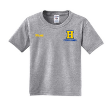 Load image into Gallery viewer, Hampton H With Name - 29B Athletic Heather Dri Power Youth Tee
