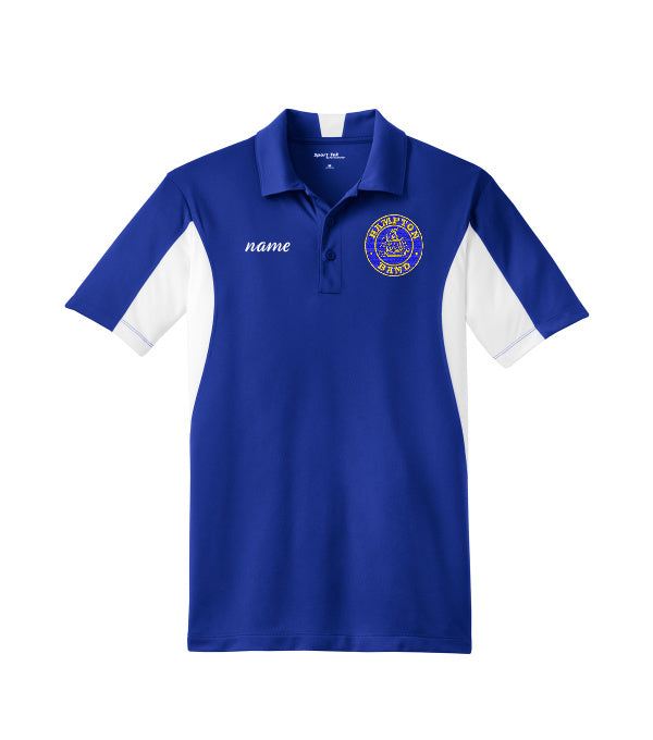 Hampton Embroidered Design With Name - TST655 Royal Blue/White Tall Men's Polo