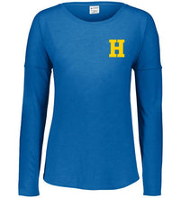 Load image into Gallery viewer, Hampton Central - 3077 Ladie's Royal Tri Blend Long Sleeve