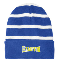 Load image into Gallery viewer, Hampton Holiday  - STC31 Royal/White Stripped Beanie