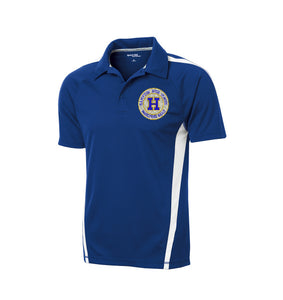 Hampton Embroidered Design - ST685 Royal Blue/White Men's Polo