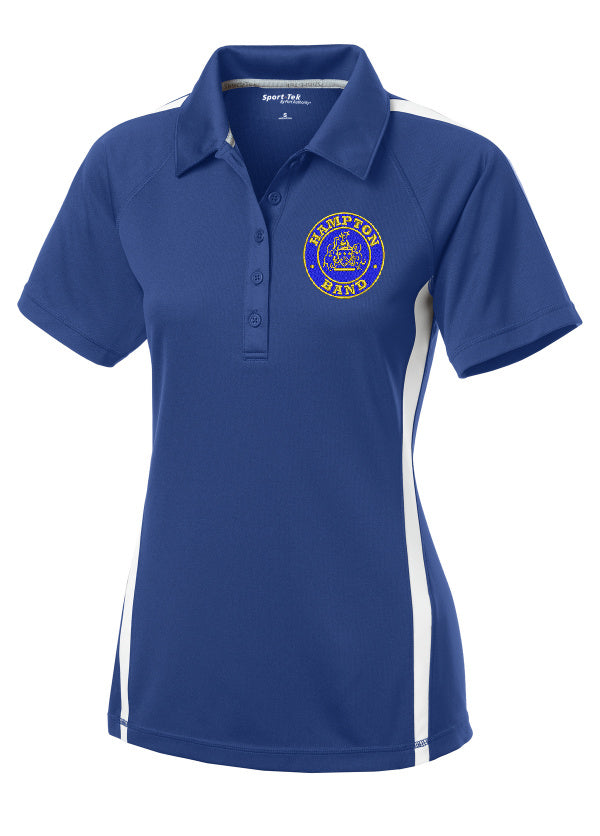 Hampton Embroidered Design  - LST685 Royal Blue/White Ladie's Polo