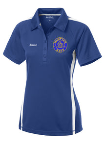 Hampton Embroidered Design With Name - LST685 Royal Blue/White Ladie's Polo