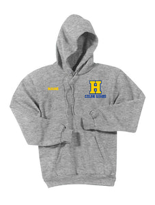 Hampton H With Name - PC90HT Tall Athletic Heather Pullover Hoodie