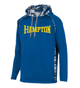 Hampton Central - 5538 Royal Mod Camo Pullover Hoodie