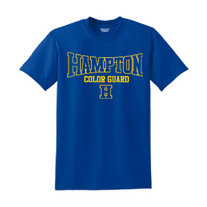 Hampton - 2000B Youth 100% Cotton Royal Blue Tee