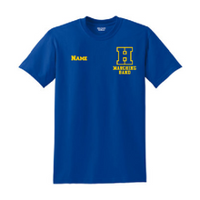 Load image into Gallery viewer, Hampton H With Name - 8000B Youth 50/50 Royal Blue Tee
