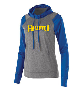 Hampton Central - 222739 Ladies Royal/Graphite Pullover Hoodie