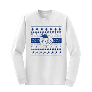 Hampton Band Holiday - 8400 White Long Sleeve Tee