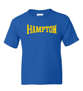 Hampton Central - 2000B Youth 100% Cotton Royal Blue Tee