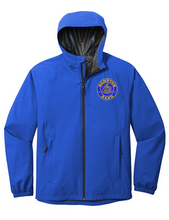 Load image into Gallery viewer, Hampton Embroidered Design - J407 Royal Blue Rain Jacket