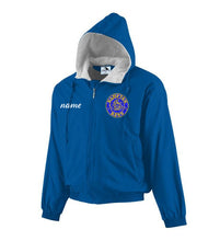 Load image into Gallery viewer, Hampton Embroidered Design With Name - 3281 Royal Blue Youth Fleece Lined Jacket