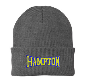 Hampton With Back Text - CP90 Oxford Grey Beanie