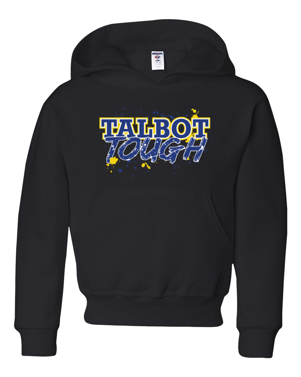 Hampton Central Talbot Tough - 996Y Youth Black Pullover Hoodie