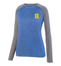 Load image into Gallery viewer, Hampton Central - 2817 Royal Heather/Graphite Heather Ladie's Long Sleeve