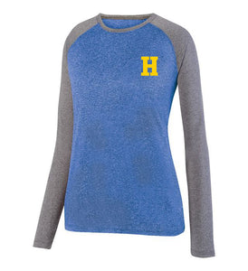 Hampton Central - 2817 Royal Heather/Graphite Heather Ladie's Long Sleeve