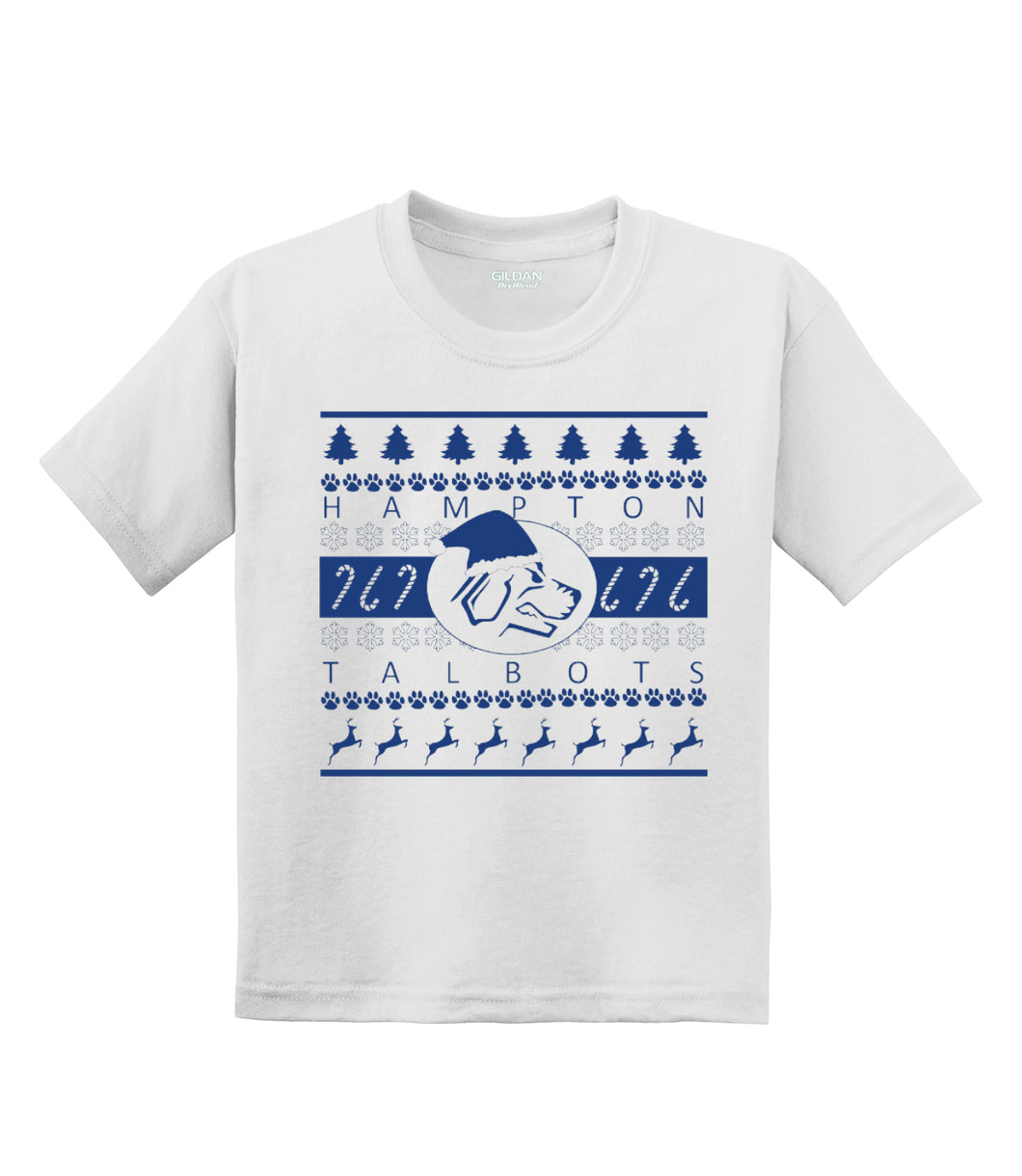 Hampton Band Holiday - 8000B Youth White Short Sleeve Tee