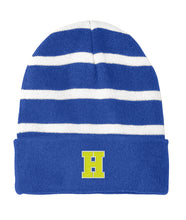 Load image into Gallery viewer, Hampton Central - STC31 Royal/White Stripped Beanie