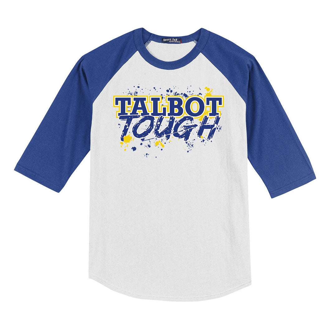 Hampton Talbot Tough - T200 White/Royal Blue Baseball Tee
