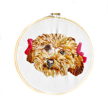 Load image into Gallery viewer, Embroidered Pet Portrait