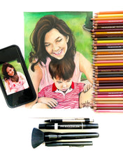 Load image into Gallery viewer, Color Pencil  Portrait